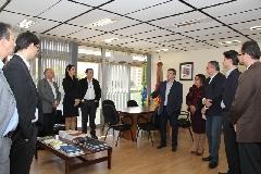 Secretário Adjunto da Administração e dos Recursos Humanos, Luiz Antonio Philomena, recebeu os visitantes