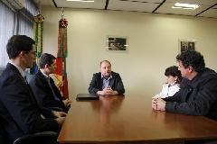 Visita ao gabinete do secretário ocorreu após a agenda dos auditores para conhecer fluxos e sistemas da Celic
