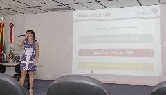 Subsecretaria da Administração Central de Licitações (Celic), Nizani Torres, esteve  em Cuiabá (MT) falando sobre  o Fornecer