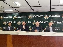 da esquerda para direita - Jairo da Silva,  consultor da NT Consult; Edu Olivera, secretário da Smarh; Eduardo Pinto, subsecretário da Celic; Alexandre Freitas, diretor da Celic.