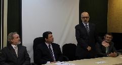 esq. para direita: o diretor da Celic, Alexandre de Freitas; o secretário da Smarh, Edu Olivera; o subsecretário da Celic, Eduardo Pinto; e o diretor da Celic, Paulo Irmão.